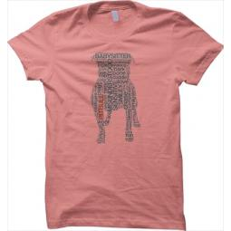 AS IS - Small Pit Bull Text Unisex Loose Fit T-Shirt - Coral
