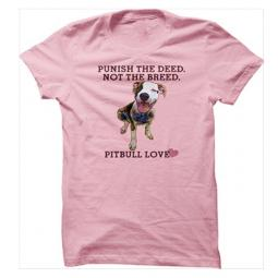 AS IS -Large Punish the Deed Not the Breed Unisex T-Shirt