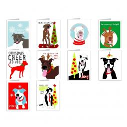 Pit Bull Season's Greetings Note Cards