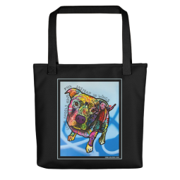 Some Angels Indelible Dog Tote Bag