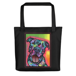 Straight to the Heart Indelible Dog Tote Bag