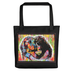 They're Not Dangerous Indelible Dog Tote Bag