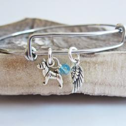 Akita Mini Angel Wing Stackable Bangle Bracelet