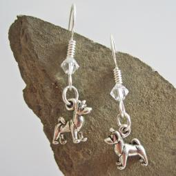Akita Sterling Silver Earrings
