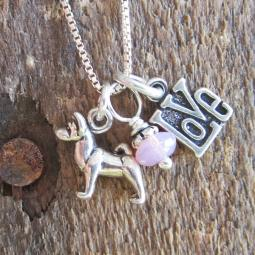 Akita Love Mini Sterling Silver Necklace