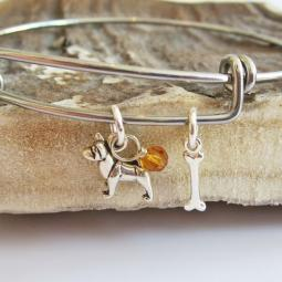 Akita Mini Bone Stackable Bangle Bracelet