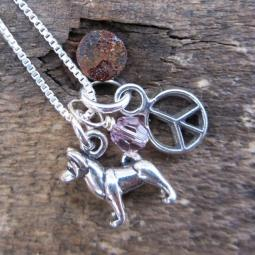 Akita Mini Peace Sterling Silver Necklace