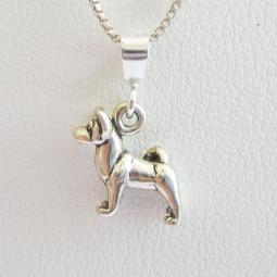 Akita Mini Pendant Charm and Necklace