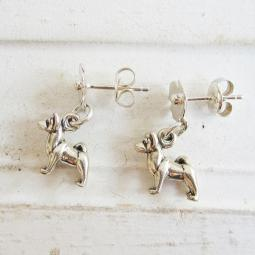 Akita Poppy Sterling Silver Earrings