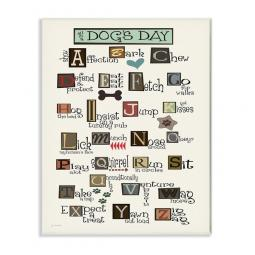 All in a Dog's Day ABCs Wall Art Plaque