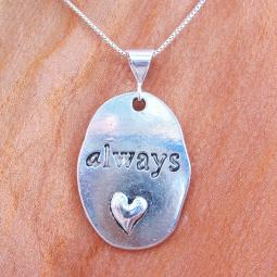 Always Oval Pendant Charm and Necklace