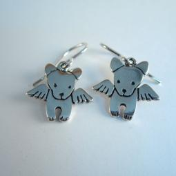 Angel Pibble Sterling Silver Earrings