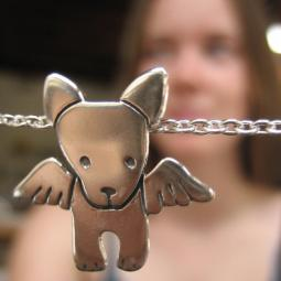 Angel Pibble Sterling Silver Necklace - LAST ONE