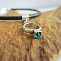 Aqua Birthstone Ring European-Style Charm and Bracelet
