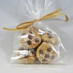6 Mini Chocolate Chip Cookie Dog Treat Gift Bag