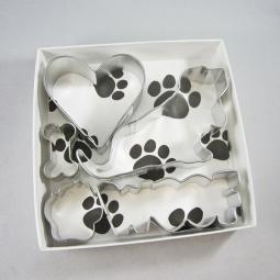 Basset Hound Woof Five Piece Cookie Cutter Set + a Letter!