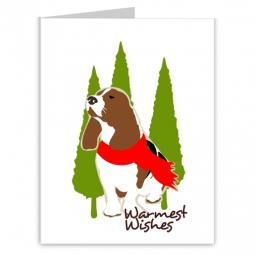 Basset Hound Warmest Wishes Holiday Note Cards (#21)