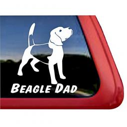 Beagle Dad Large Decal - ONLY 1 LEFT