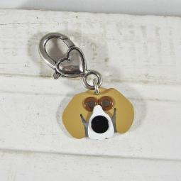 Mini Beagle Metal Rivet Tag/Keychain