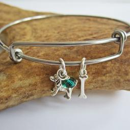 Beagle Mini Bone Stackable Bangle Bracelet