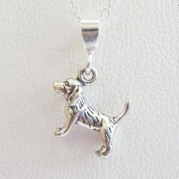 Beagle Hound Mini Pendant Charm and Necklace