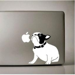 Black and White Sitting French Bulldog Large Decal