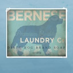 Bernese Mountain Dog Laundry Company Silhouette 8x10,11x14 Print