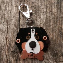 Bernese Mountain Dog Metal Rivet Tag/Keychain