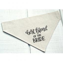 Best Friend of the Bride Canvas Dog Bandana