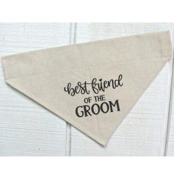 Best Friend of the Groom Canvas Dog Bandana