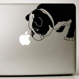 Black English Bulldog Large Decal