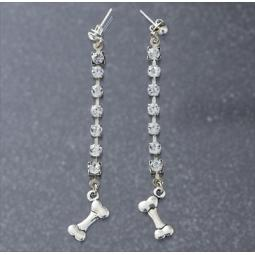 Blingy Dog Bone Earrings