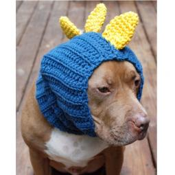 Blue and Yellow Dinosaur Crochet Snood