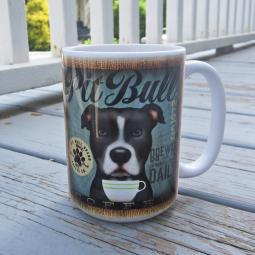 Black & White Pit Bull Coffee Company Mug