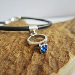 Blue Birthstone Ring European-Style Charm and Bracelet