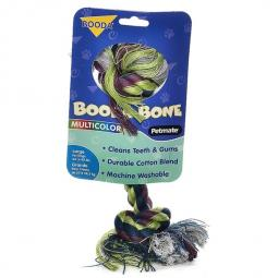 Booda Bone Two Knot Multi-color Rope Bone Large