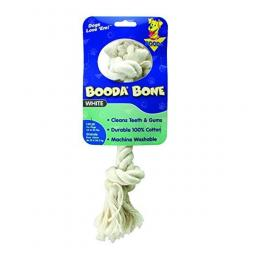Booda Bone Two Knot White Rope Bone and Tug Large