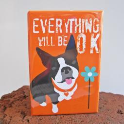 Boston Terrier Art Magnet