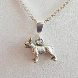 Boston Terrier Mini Pendant Charm and Necklace