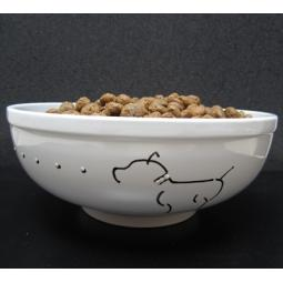 "Handpainted Pit Bull 6"" Dog Bowls"