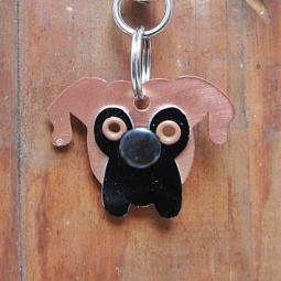 Boxer Copper Metal Rivet Tag/Keychain
