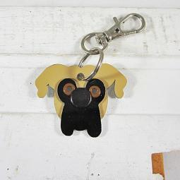 Boxer Fawn Metal Rivet Tag/Keychain