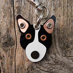 Bull Terrier Metal Rivet Tag/Keychain