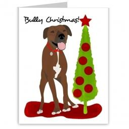 Pit Bull Bully Christmas Note Cards (#3)