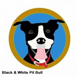 Black and White Pit Bull Mouse Pad