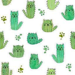 Cat Cactus Pleated Face Mask