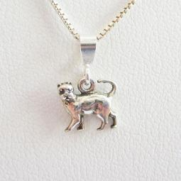 Cat Mini Pendant Charm and Necklace