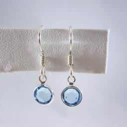 Light Blue Channel Drop Earrings