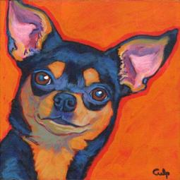 Chihuahua Black and Tan  Print