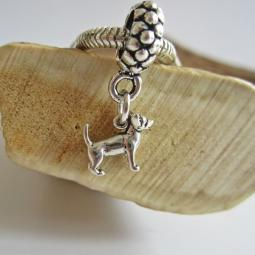 Chihuahua Mini Ster Silver European-Style Charm and Bracelet